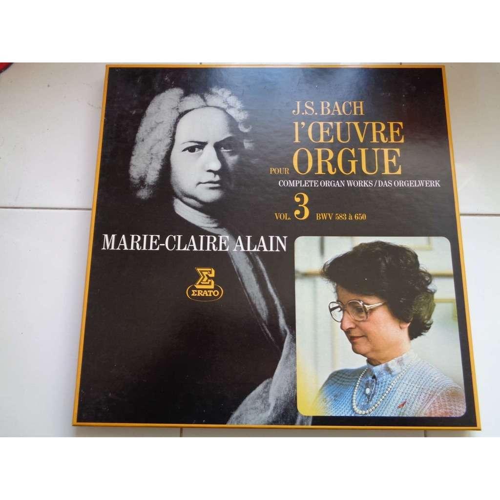 marie claire alain JS Bach : Organ works vol.3 – BWV 583 to 650 - ( 4 lp set box mint condition )