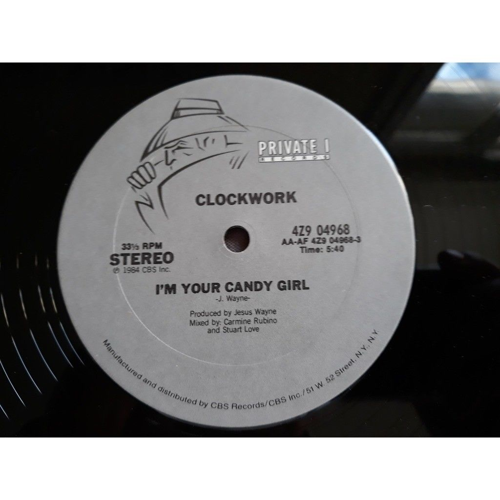 Clockwork (3) - I'm Your Candy Girl (12) 1984 Clockwork (3) - I'm Your Candy Girl (12) 1984