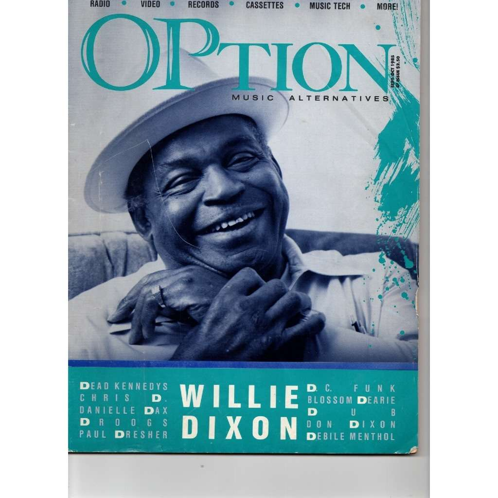 Willie Dixon, Dead Kennedys, more Option Magazine Sept 1985