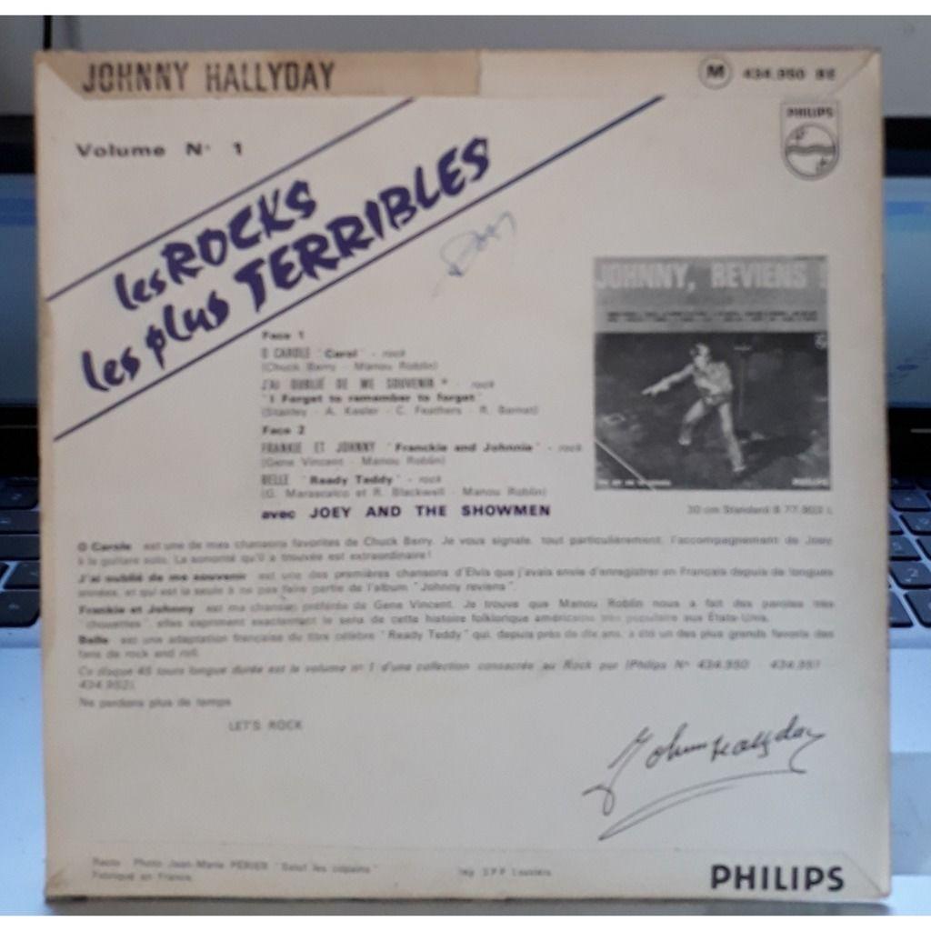 Johnny Hallyday (pochette papier avec rabats) Les Rocks Les Plus Terribles Vol.1