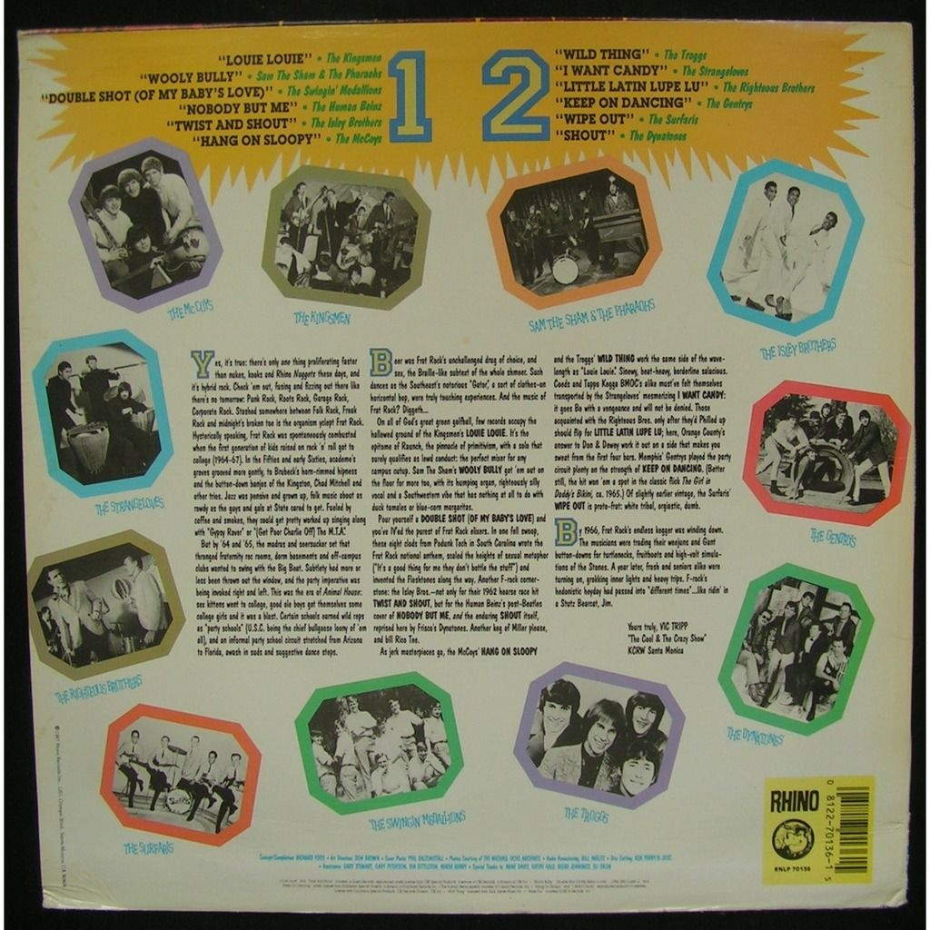 various 60's rock garage frat rock!