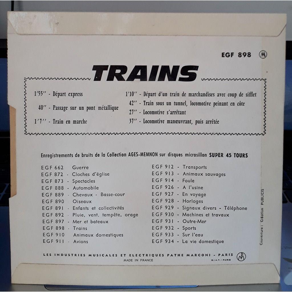 Bruitage Cinéma Volume 2 Trains
