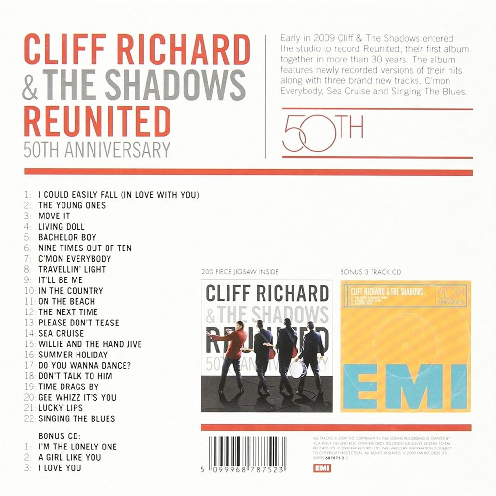 cliff richard & the shadows Reunited 50th Anniversary Album