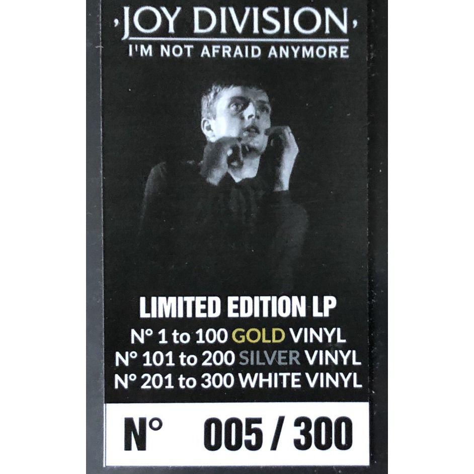 Joy Division I'm Not Afraid Anymore LP Silver