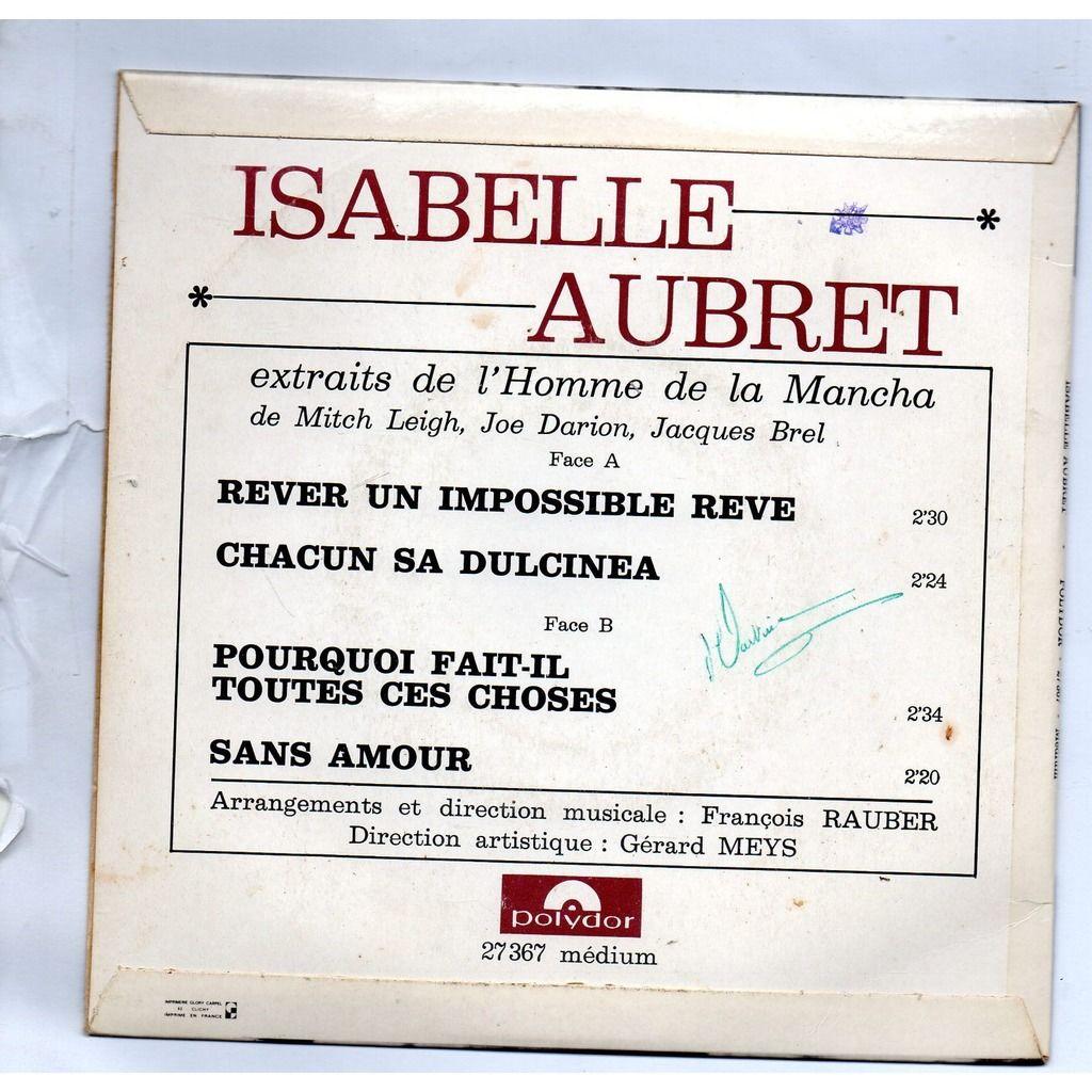 Isabelle Aubret Rever Un Impossible Reve / Chacun Sa Dulcinea / Pourquoi Fait-Il Toutes Ces Choses / Sans amour