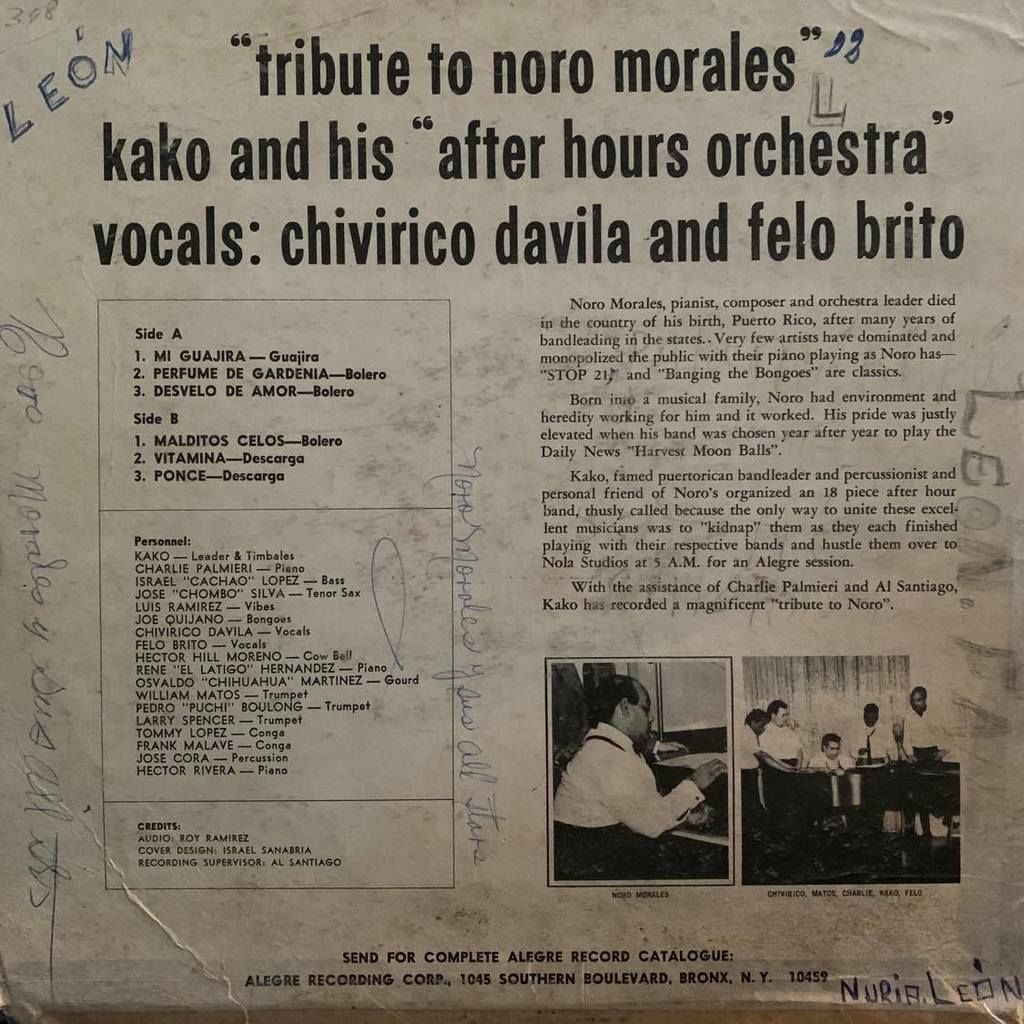 Kako's New York After Hour Orchestra Tributo A Noro Morales