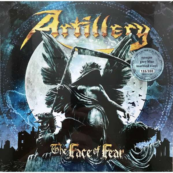Artillery The Face Of Fear (lp) Ltd Edit 300 Copies Grey Blue Marbled -Ger