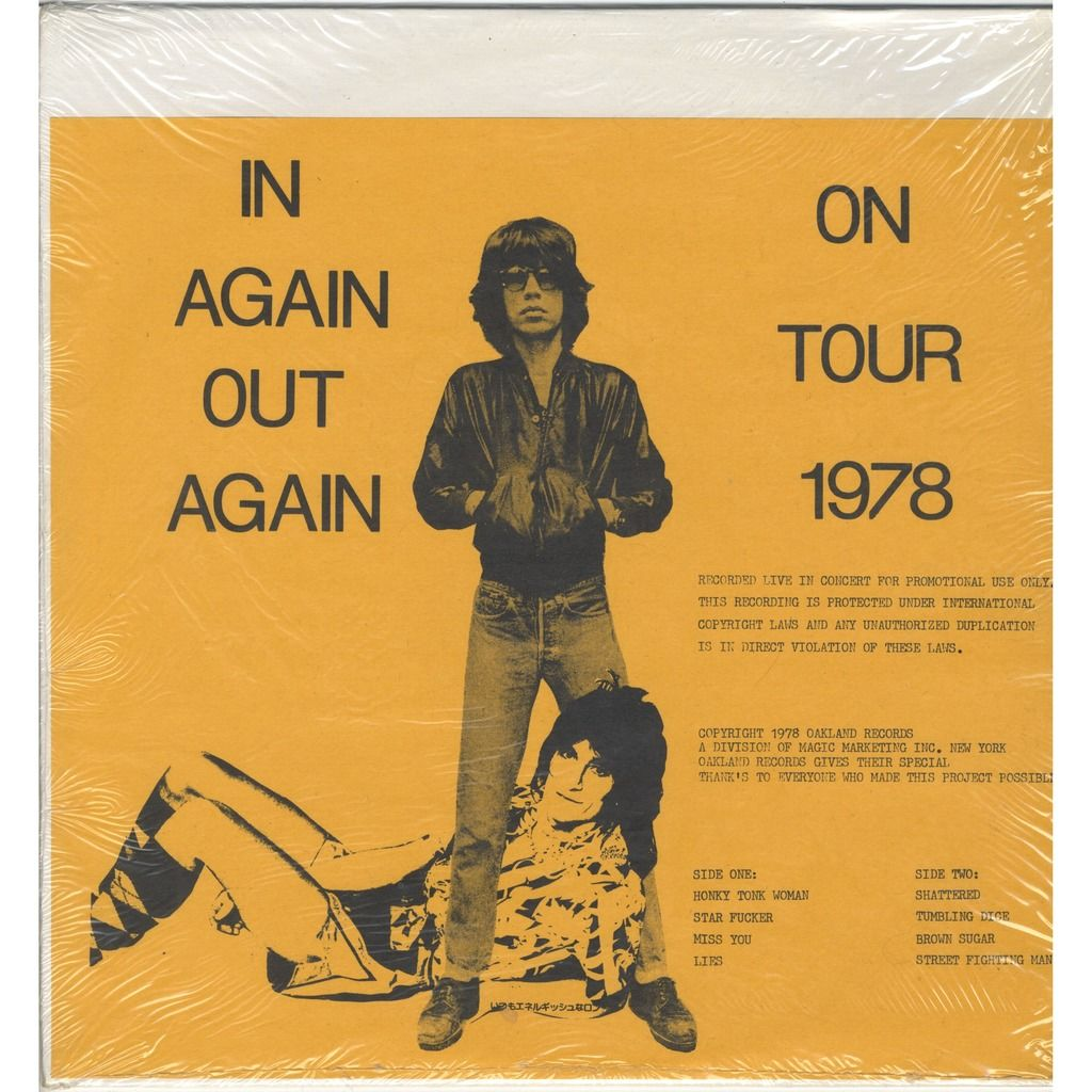ROLLING STONES In Again Out Again - On Tour 1978