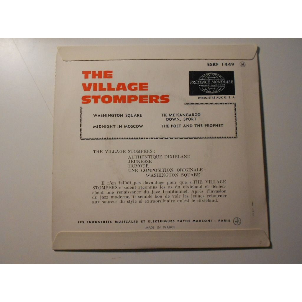 the village stompers washington square tie me kangaroo § midnight in moscow § the poet and the prophet