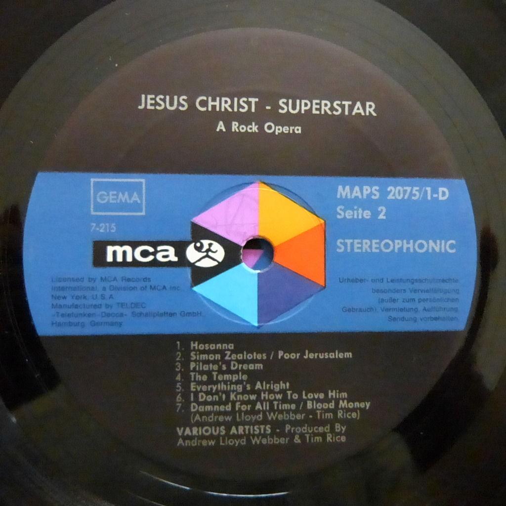 VARIOUS ARTISTS JESUS CHRIST SUPERSTAR
