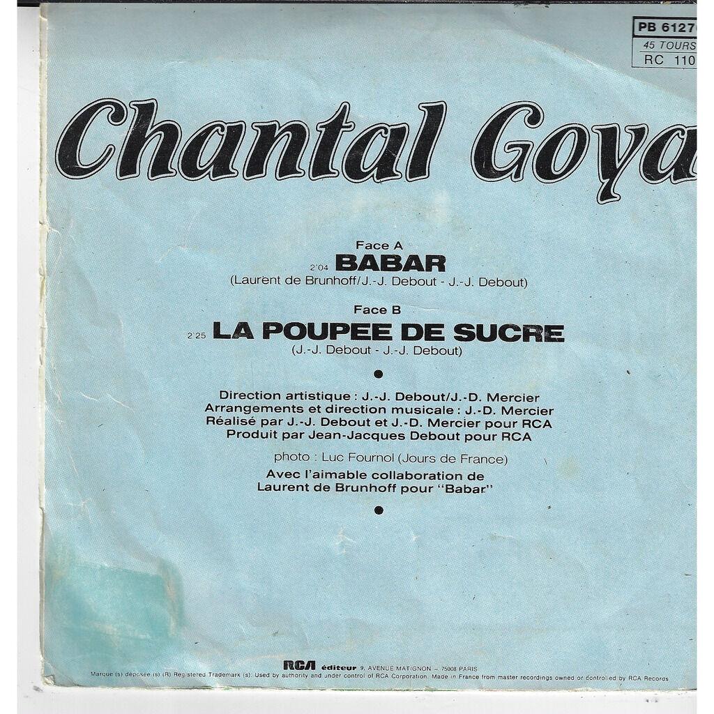 Goya Chantal Babar / la poupée de sucre