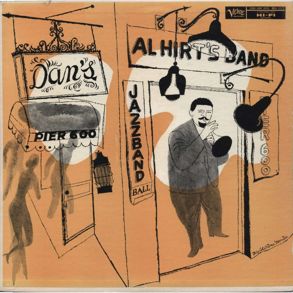 AL HIRT's JAZZ BAND BALL ! Swinging Dixie From Dan's Pier 600 New Orleans / cover = David Stone Martin
