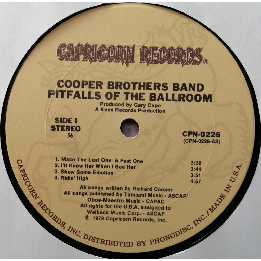 COOPER BROTHERS Pitfalls of the Ballroom