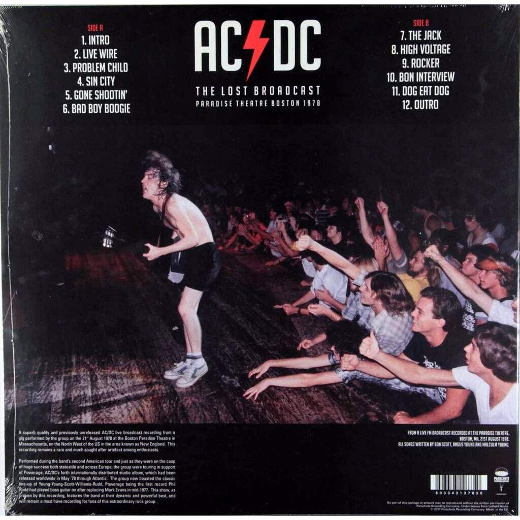 AC/DC The Lost Broadcast Paradise Theatre Boston 1978 (lp)