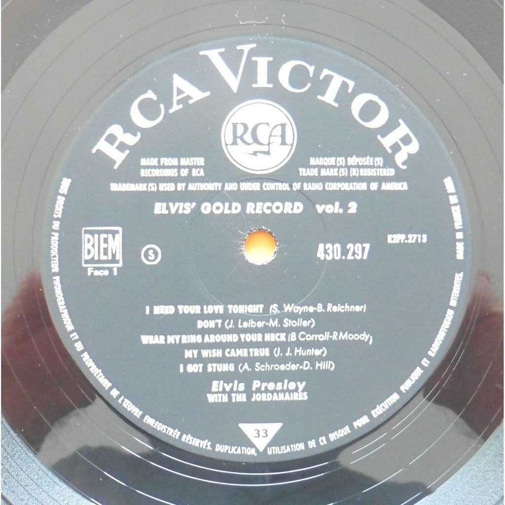 ELVIS PRESLEY ELVIS' GOLD RECORDS / I NEED YOUR LOVE TONIGHT + 9