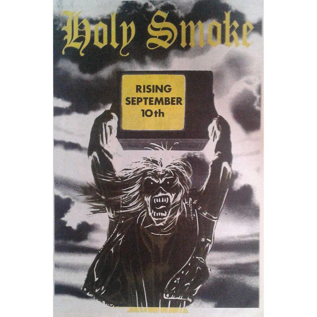 Iron maiden Holy Smoke (UK 1990 promo type advert 'single release' poster flyer!)