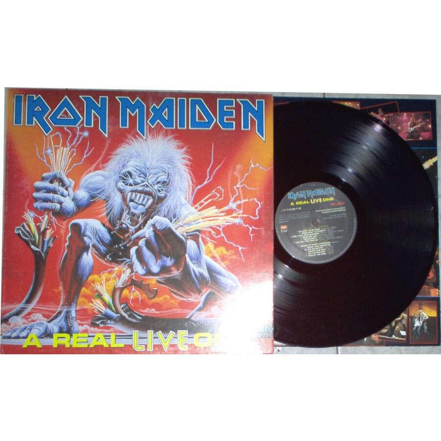 Iron Maiden A Real Live One (Italian 1993 original Ltd 11-trk LP full gf ps & inner slv!!)