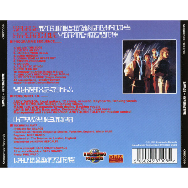 Savage Hyperactive (cd)