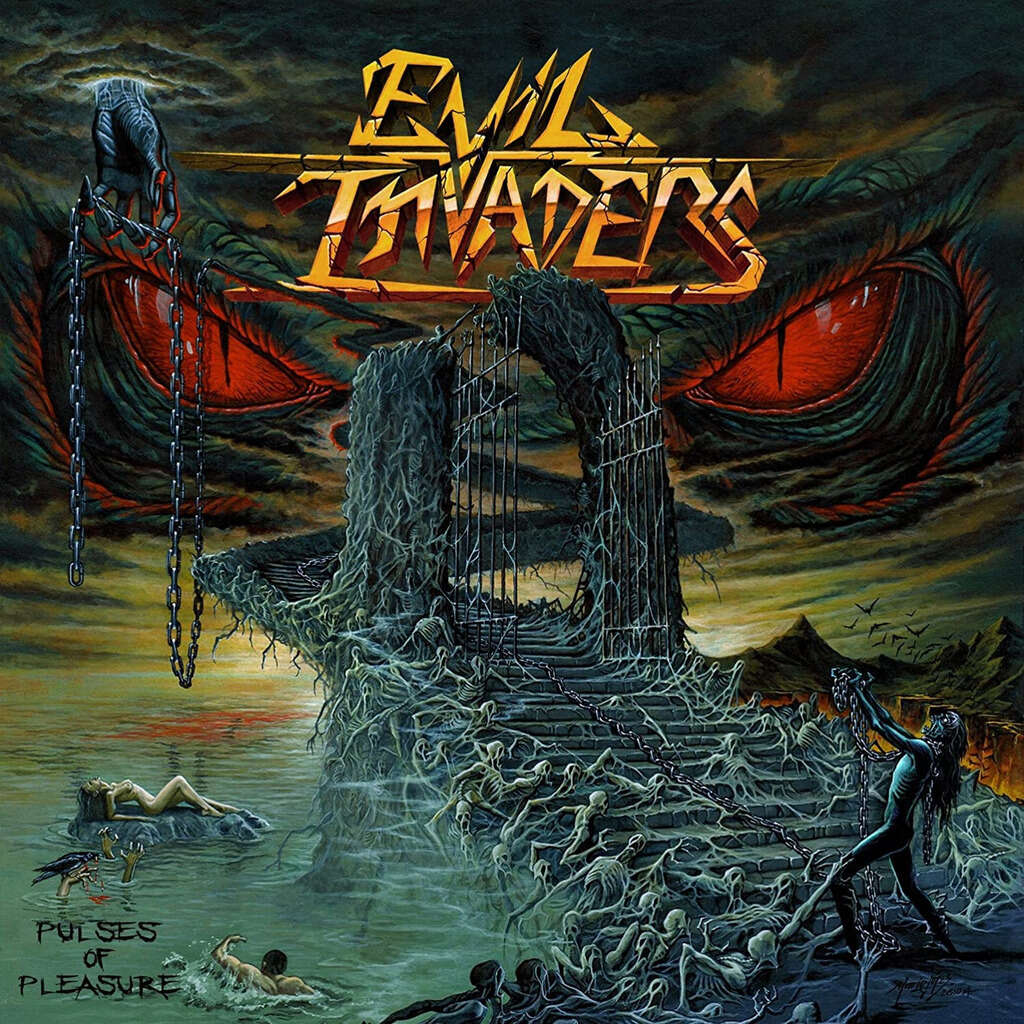 EVIL INVADERS Pulses of Pleasure. Black Vinyl
