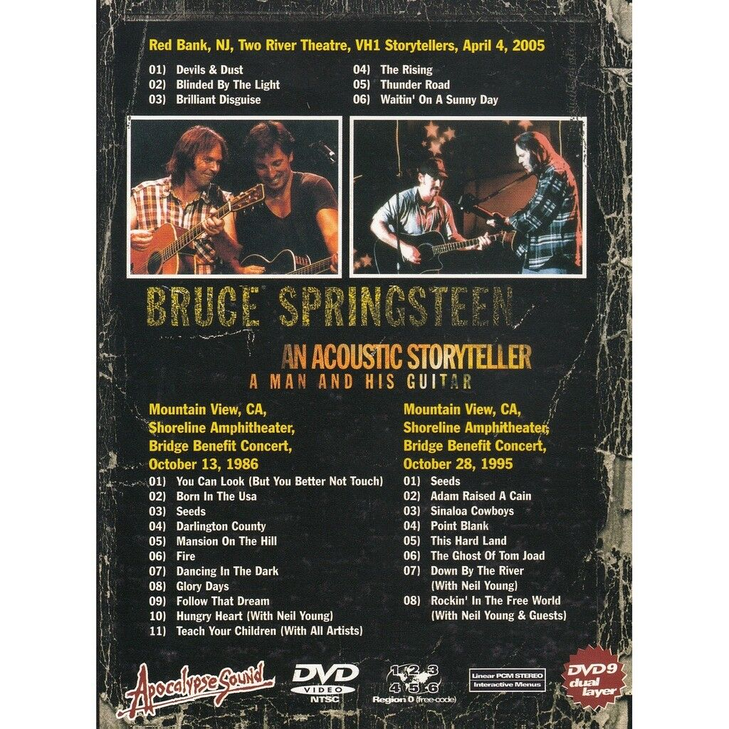 BRUCE SPRINGSTEEN AN ACOUSTIC STORYTELLER - A MAN AND HIS GUITAR DVD