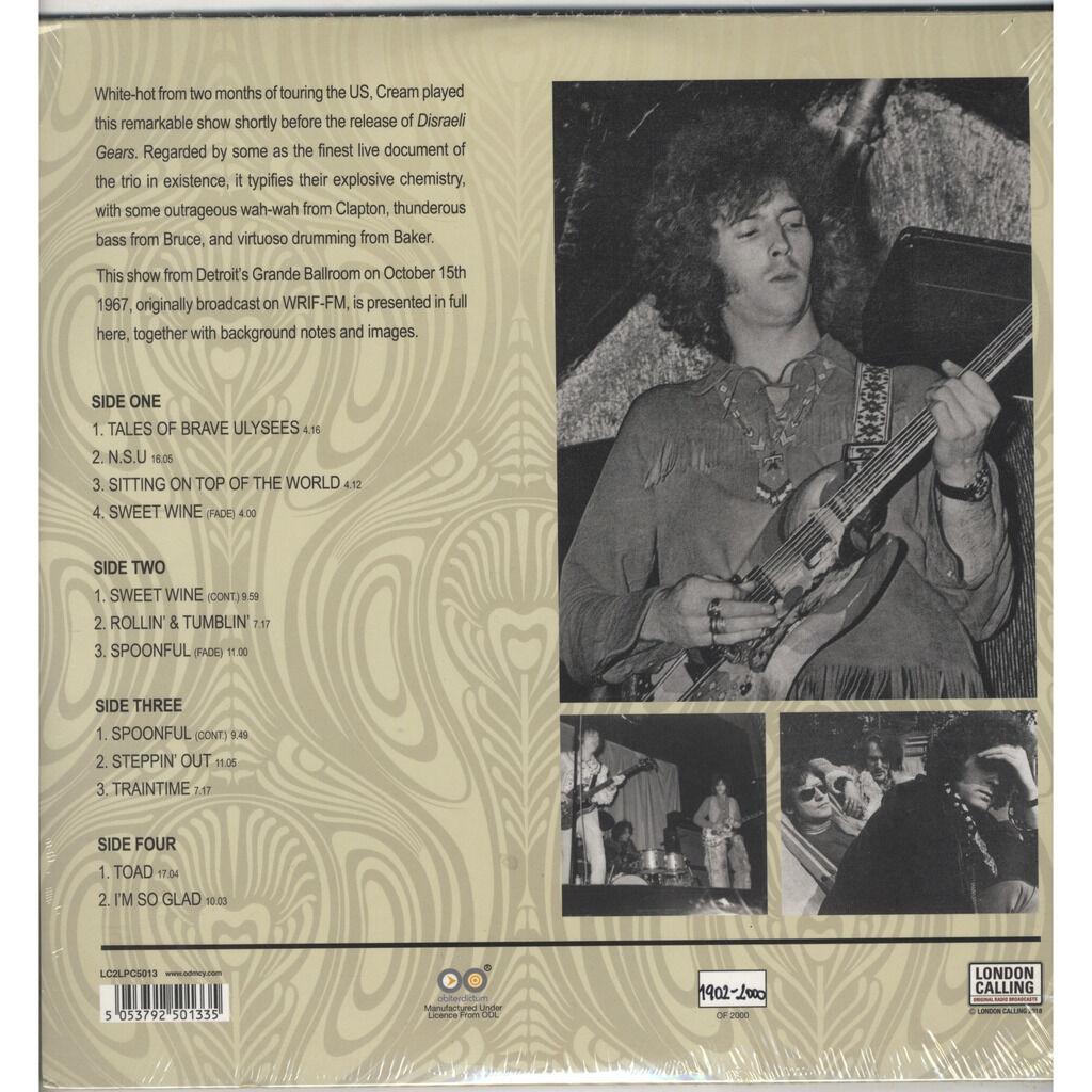 Cream Live In Detroit '67 Ltd White Vinyl 2xLP