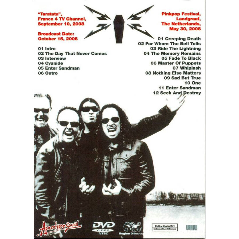 METALLICA THE ETERNAL BLISS DVD