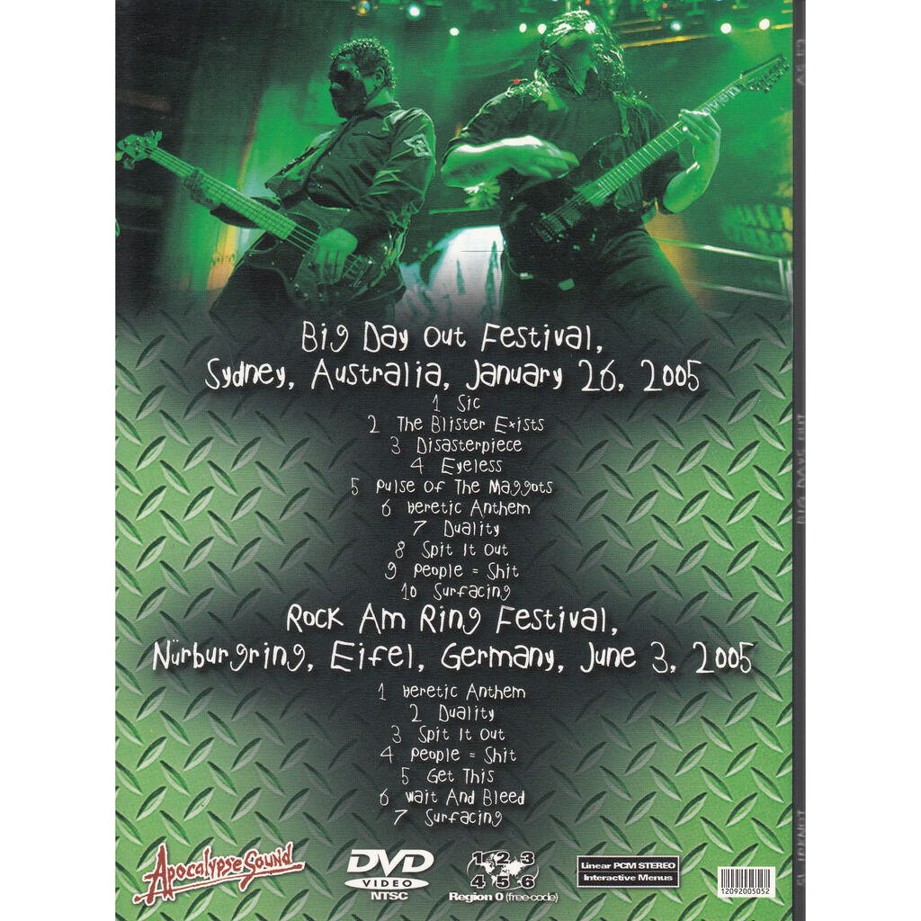 SLIPKNOT BIG DAYS OUT DVD