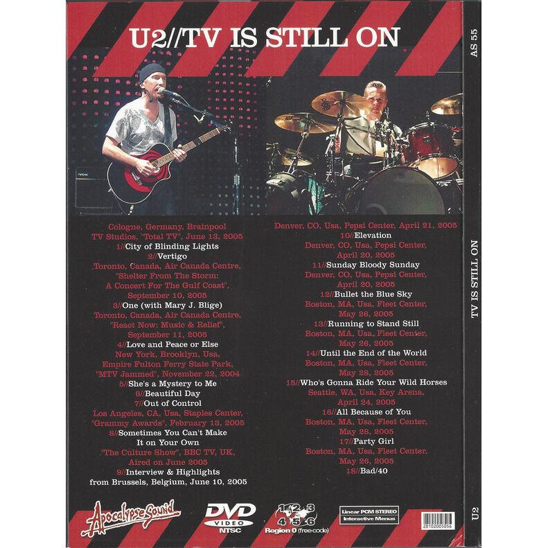 U2 TV IS STILL ON DVD
