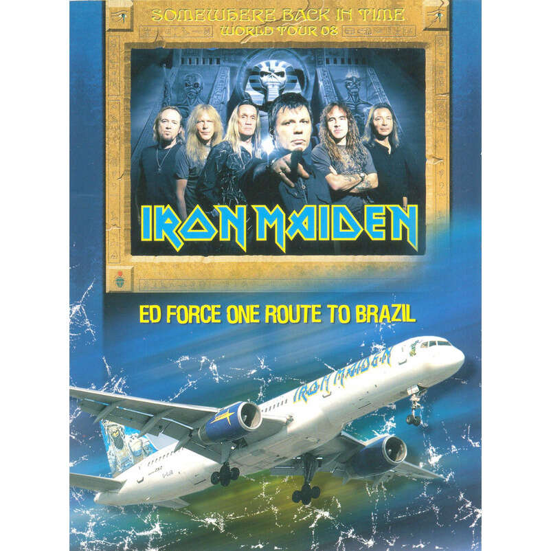 IRON MAIDEN ED FORCE ONE ROUTE TO BRAZIL DVD