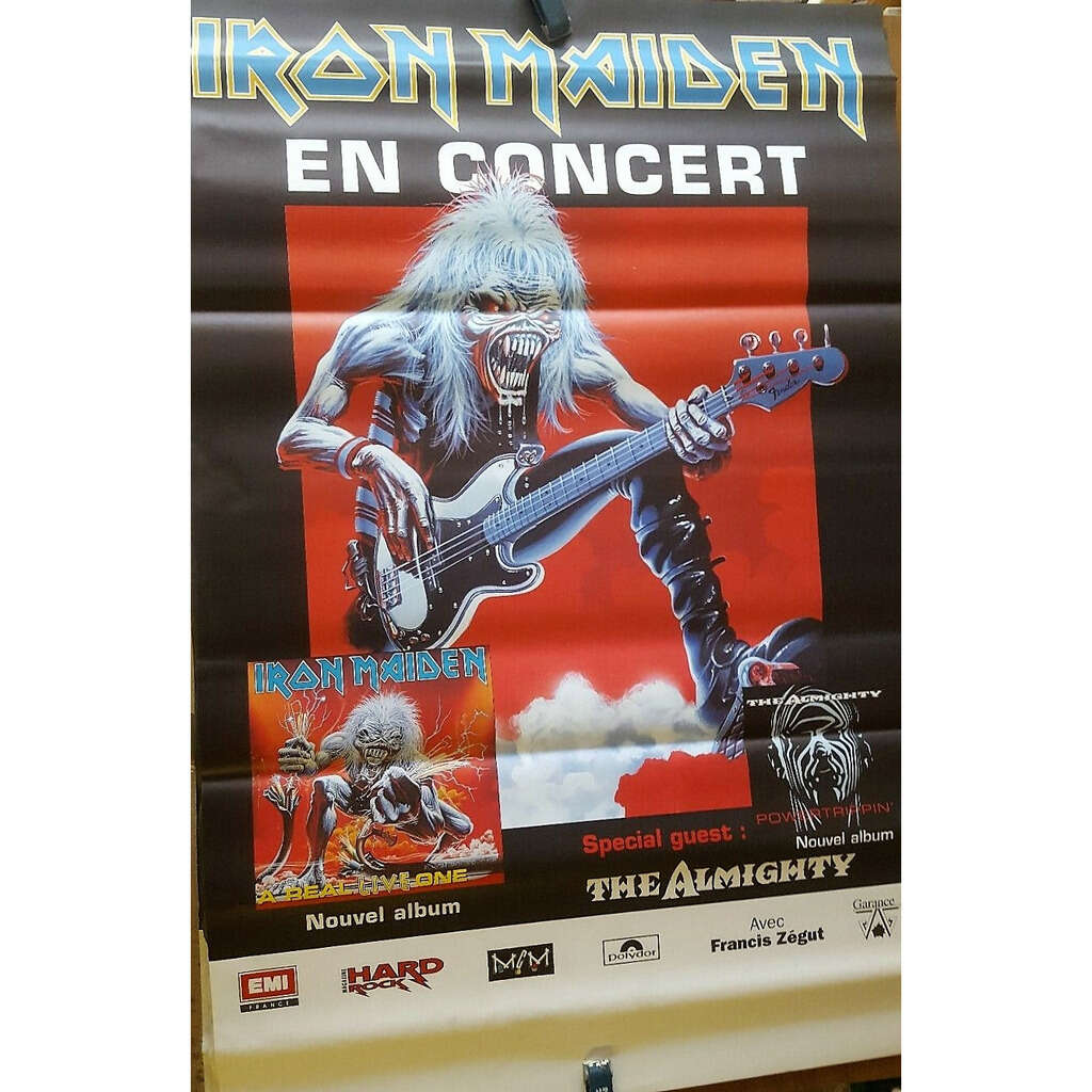 Iron Maiden Real Live French Tour 1993 (French 1993 original large promo Tour Concert poster!!)