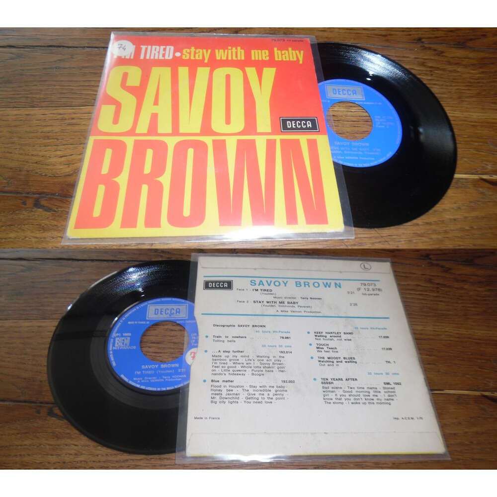 Savoy Brown I'm Tired / Stay With Me Baby (BIEM)