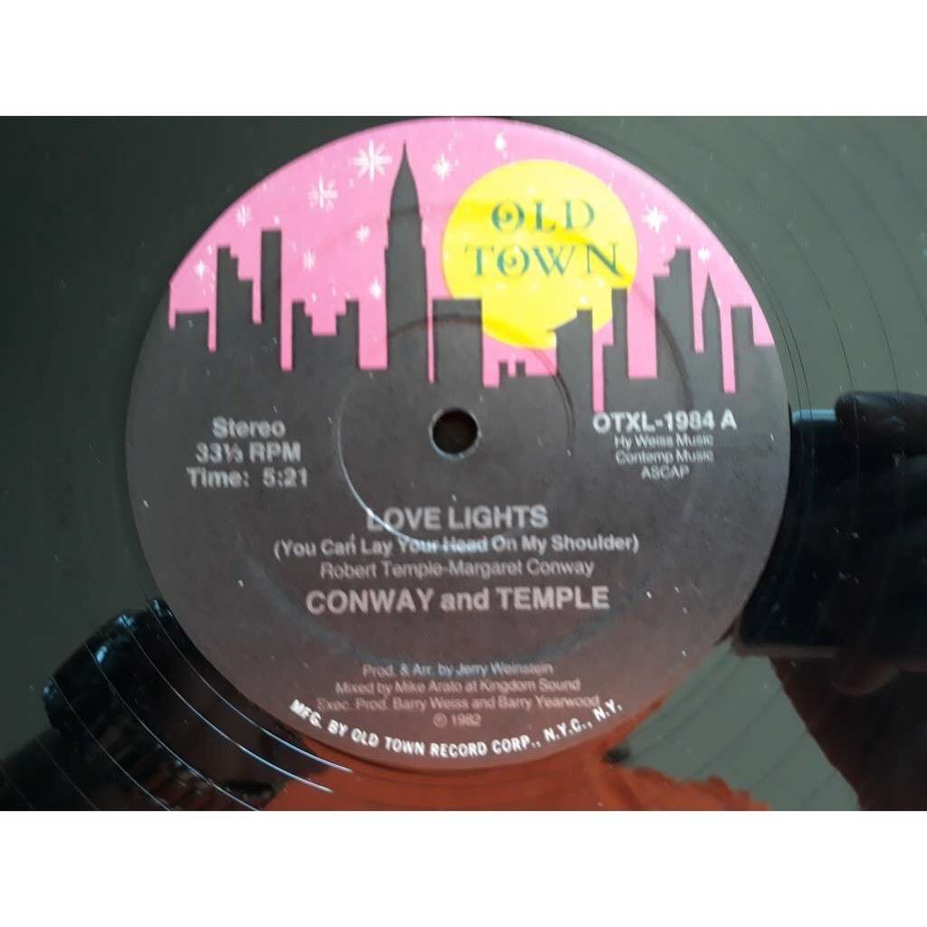 Conway And Temple* - Love Lights (You Can Lay You Conway And Temple* - Love Lights (You Can Lay Your Head On My Shoulder) 1982
