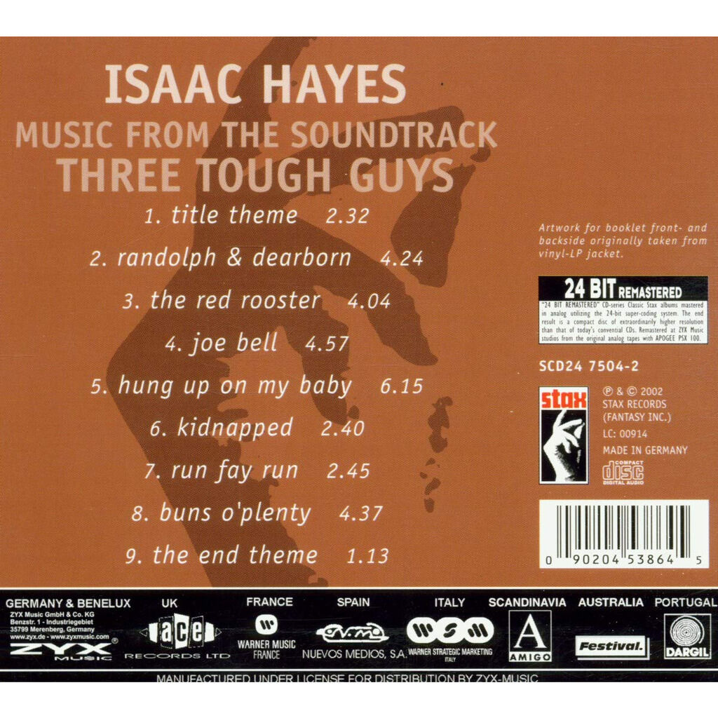 Isaac Hayes Music From The Soundtrack Three Tough Guys