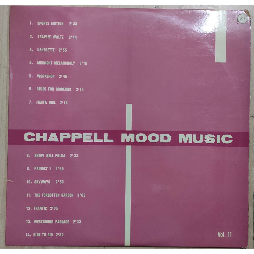 BARSOTTI, TORCH, WATTERS, FAHEY... CHAPPELL MOOD MUSIC VOL. 11