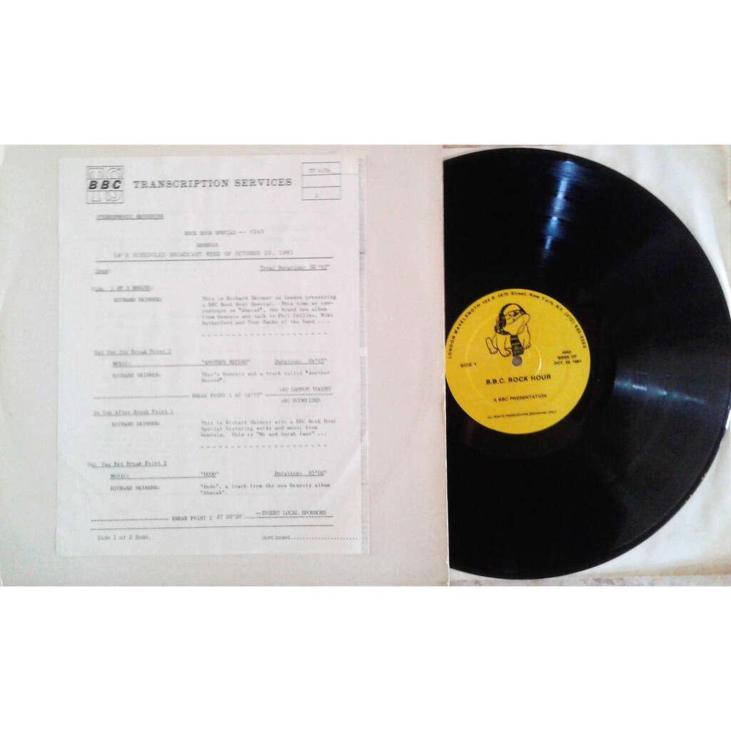 Genesis BBC Rock Hour #243 (UK 1981 original 'BBC' promo Brown wax LP Radio Show+cues!)