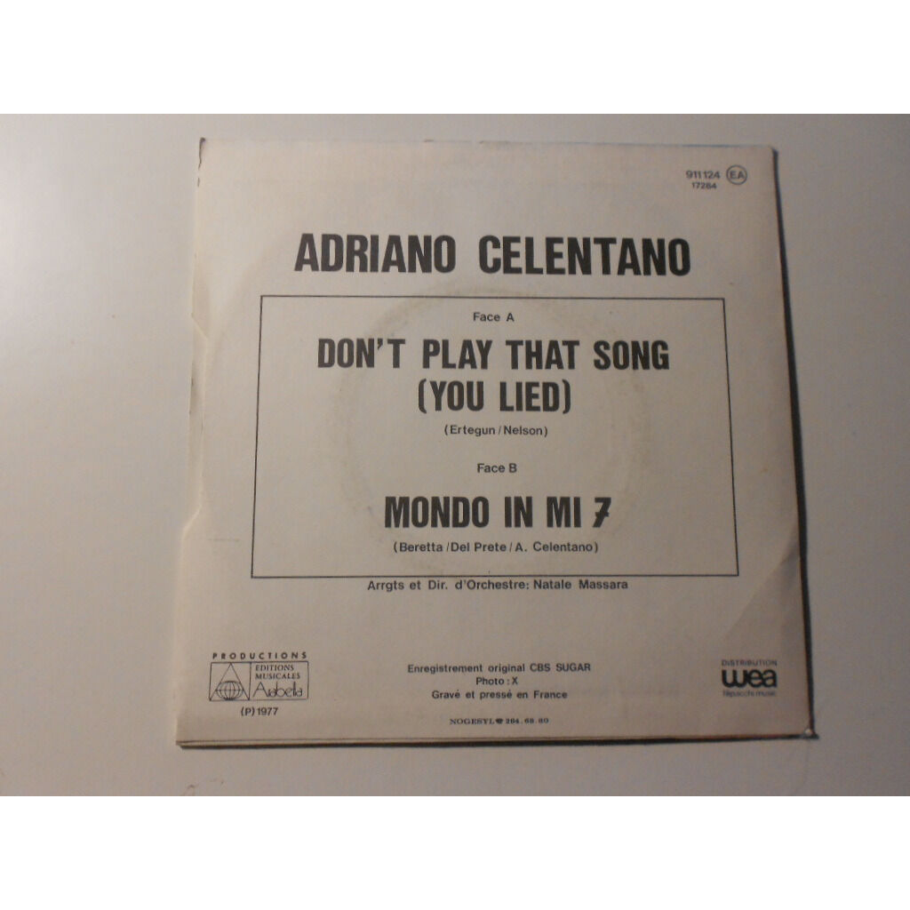 adriano celentano don't play that song § mondo in mi 7