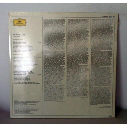 DANIEL BARENBOIM LISZT Sonate in b minor - Dante sonata - Rigoletto paraphrase