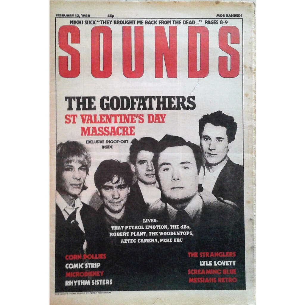 The Godfathers Sounds (13.02.1988) (UK 1988 The Godfathers front cover music magazine!!)