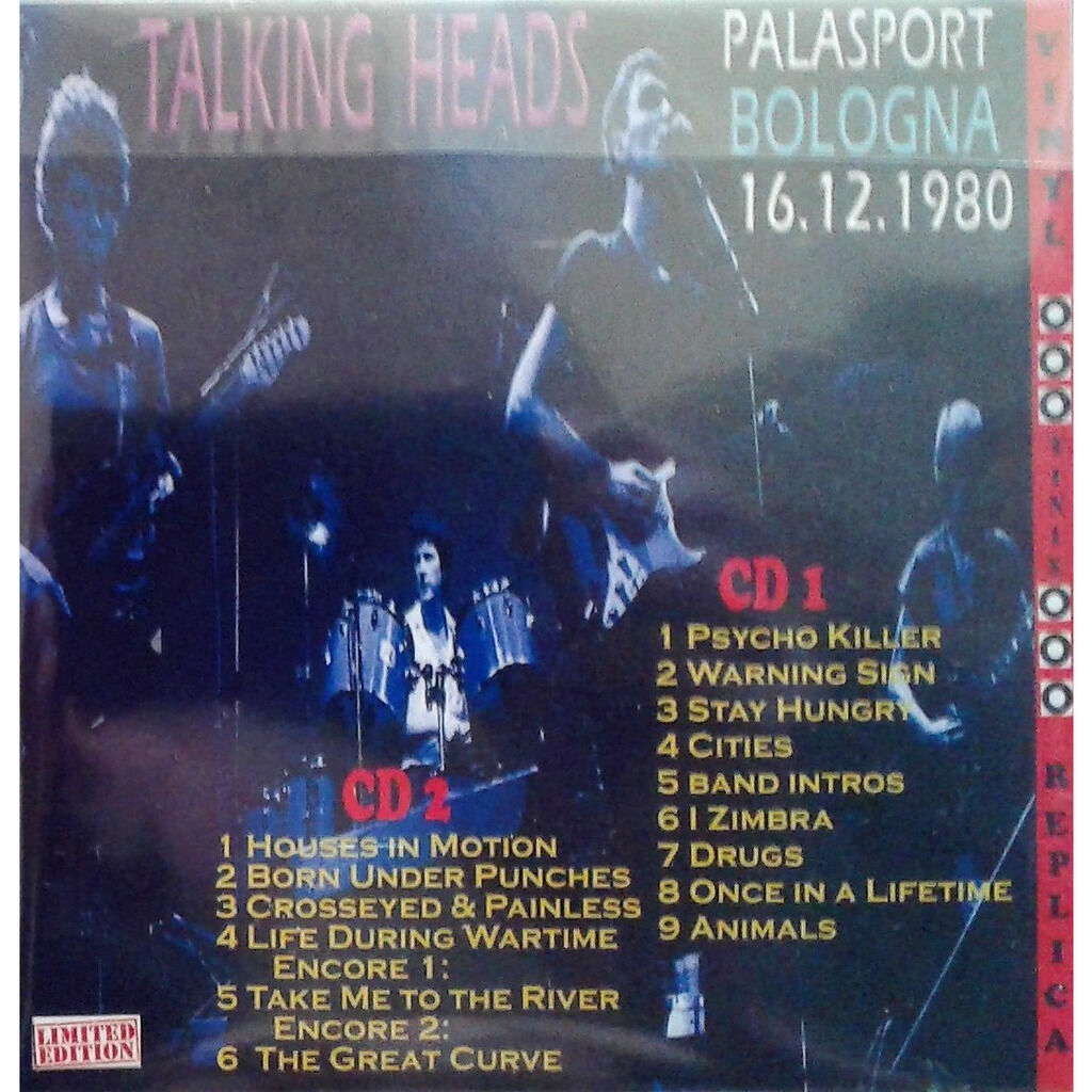 Talking Heads Live At 'Palasport' (Bologna IT 16.12.1980)