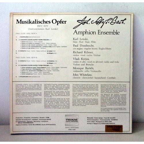 AMPHION ENSEMBLE JS BACH Musikalisches opfer