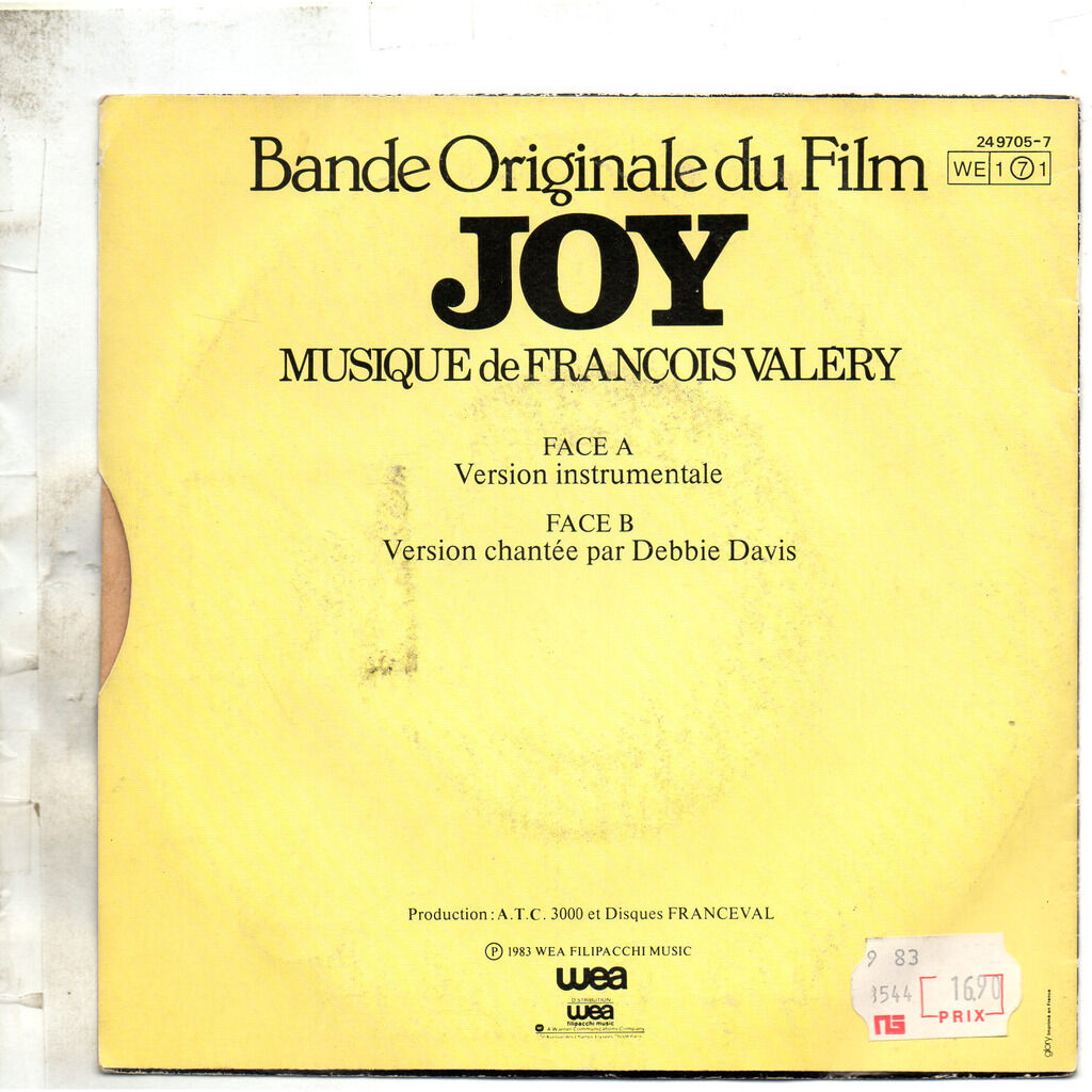 DAVIS DEBBIE B.O. F. JOY : instr. et chantée ( musique de françois valery )