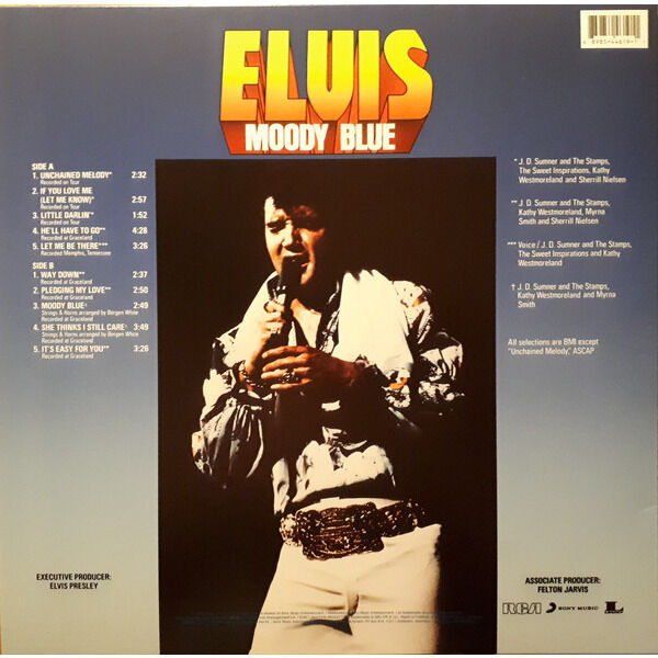 elvis presley 001 blue vinyl LP edition 2017 MOODY BLUE 40th anniversary edition