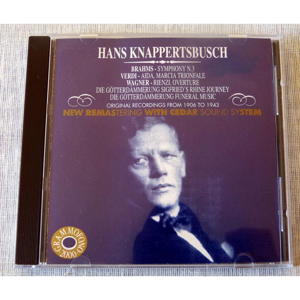 Hans Knappertsbusch dirige Brahms, verdi, Wagner