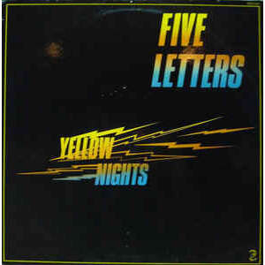 Claude Vallois / five letters yellow nights