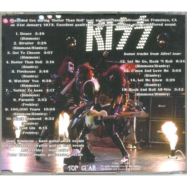 Kiss Alive! In Winterland, January 1975
