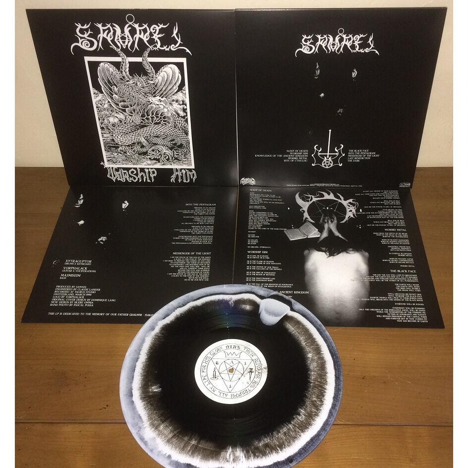 SAMAEL Worship Him. Swirl Vinyl