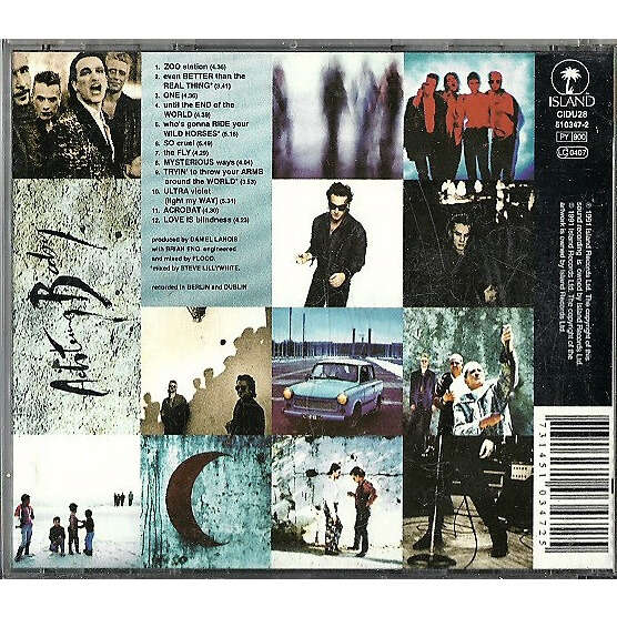 U2 Achtung Baby (UK 1991 original 12-trk Cd album pdk full ps+ booklet!!)