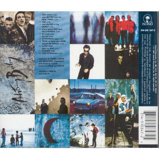 u2 Achtung Baby (Argentina 1991 original 12-trk promo Cd album pdk full ps+ booklet!!)