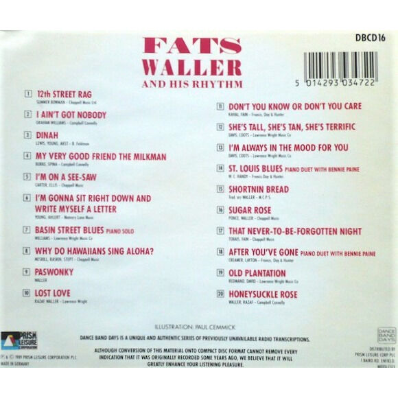 Fats Waller And His Rhythm Our Very Good Friends, Fats