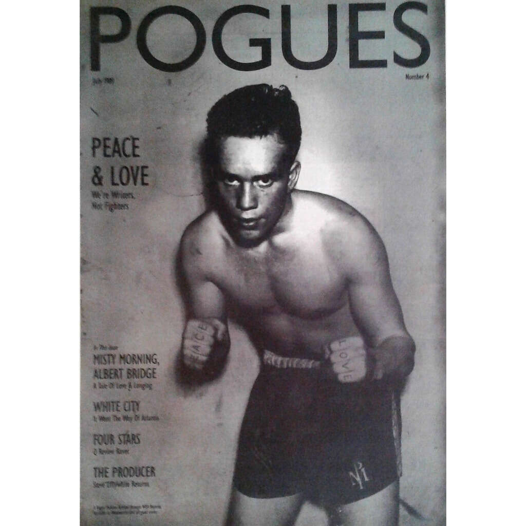 Pogues Peace & Love (UK 1989 promo type advert 'album release' poster!)